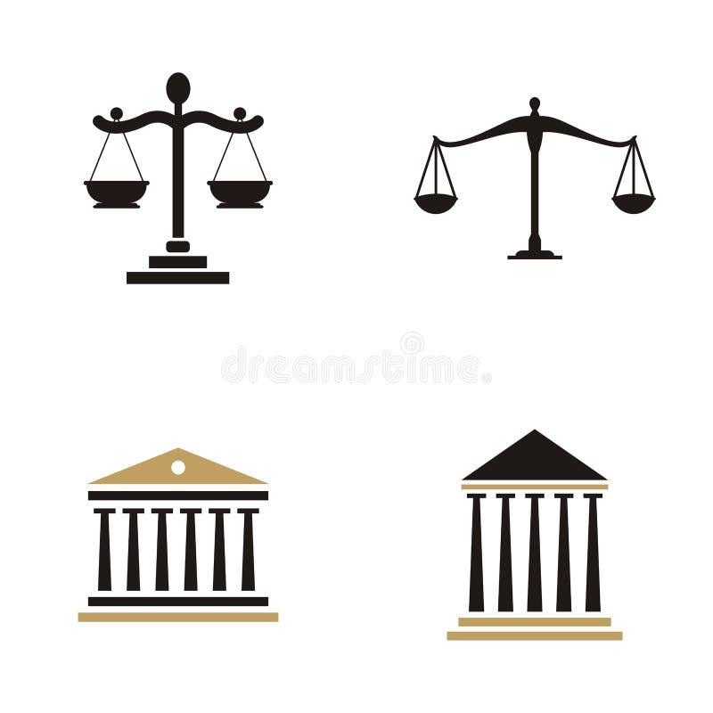 Law firm logo design.  royalty free illustration