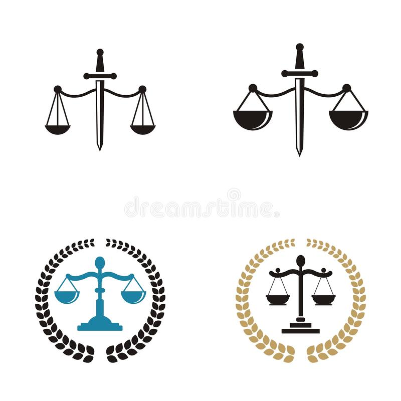 Law firm logo design.  vector illustration