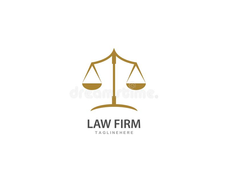 Law firm logo ilustration vector. Template royalty free illustration