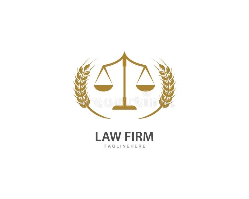 Law firm logo ilustration vector. Template stock illustration