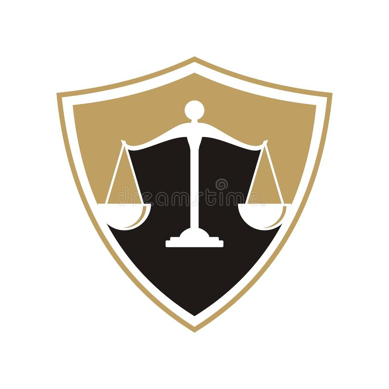 Law firm logo.  vector illustration