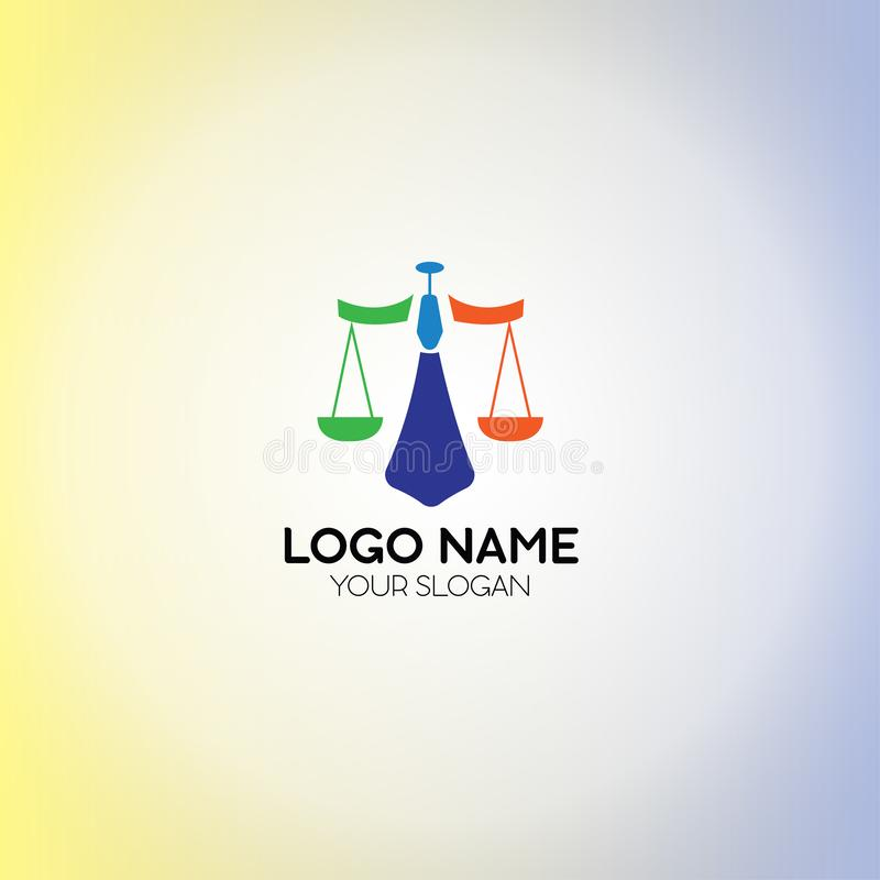 Law Firm Logo. Scales Template royalty free illustration