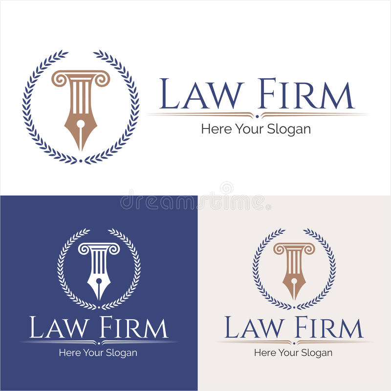 Law firm logo. Law office logo collection. The judge, Law firm logo template, lawyer set of vintage labels. full vector logo and easy to edit able. Law office stock illustration