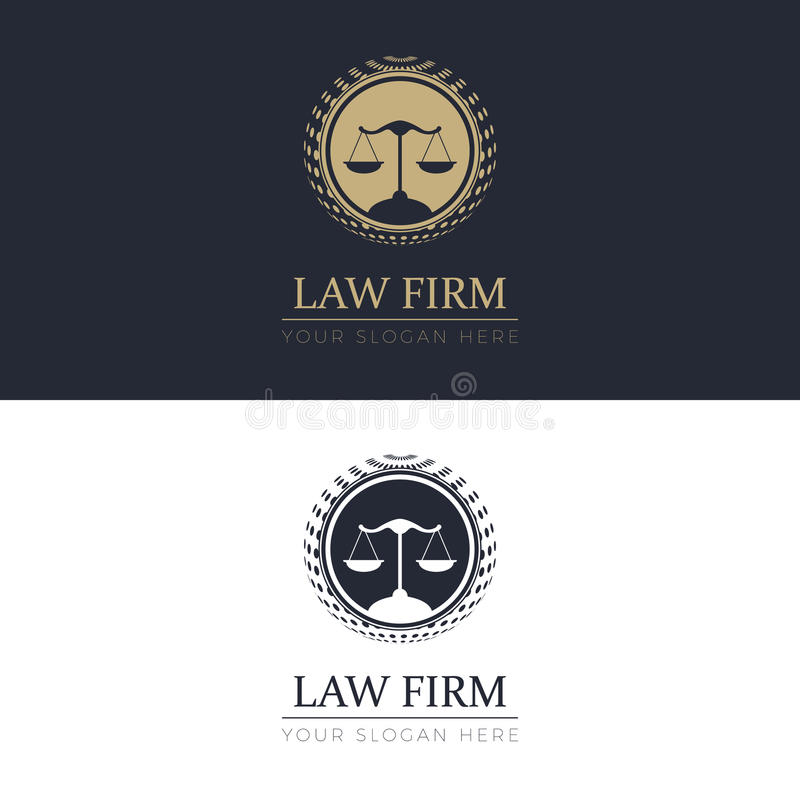 Law Firm Logo. Law Firm. Logo template for your business stock illustration