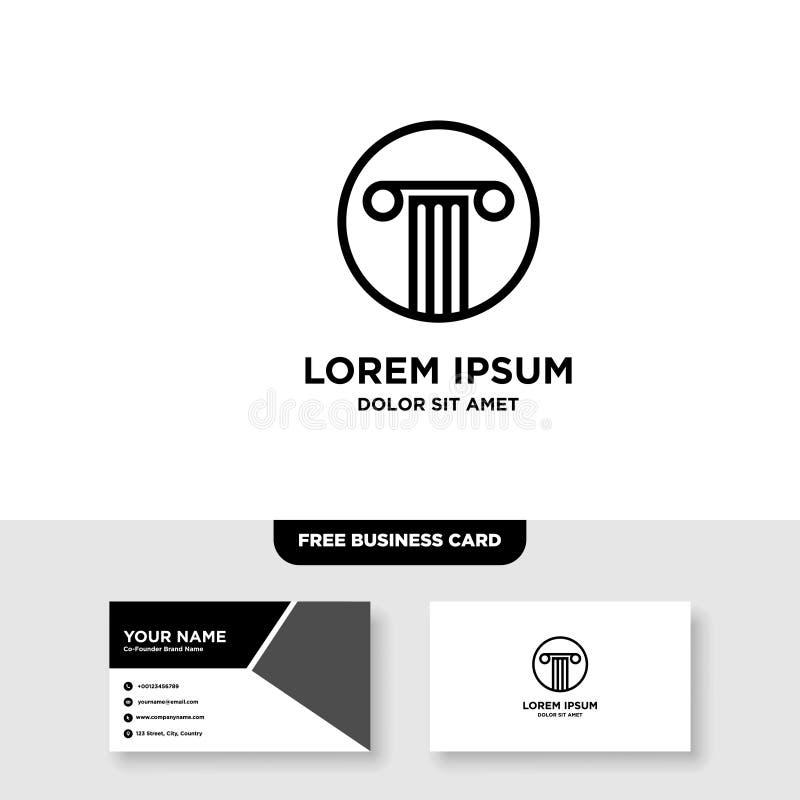 Law Firm Logo - Vector, Free Bussines Card Mockup. EPS 10, Full Vector, Jpeg High Resolution, 300 DPI royalty free illustration