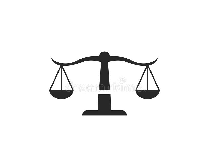 Law Firm logo vector. Template stock illustration