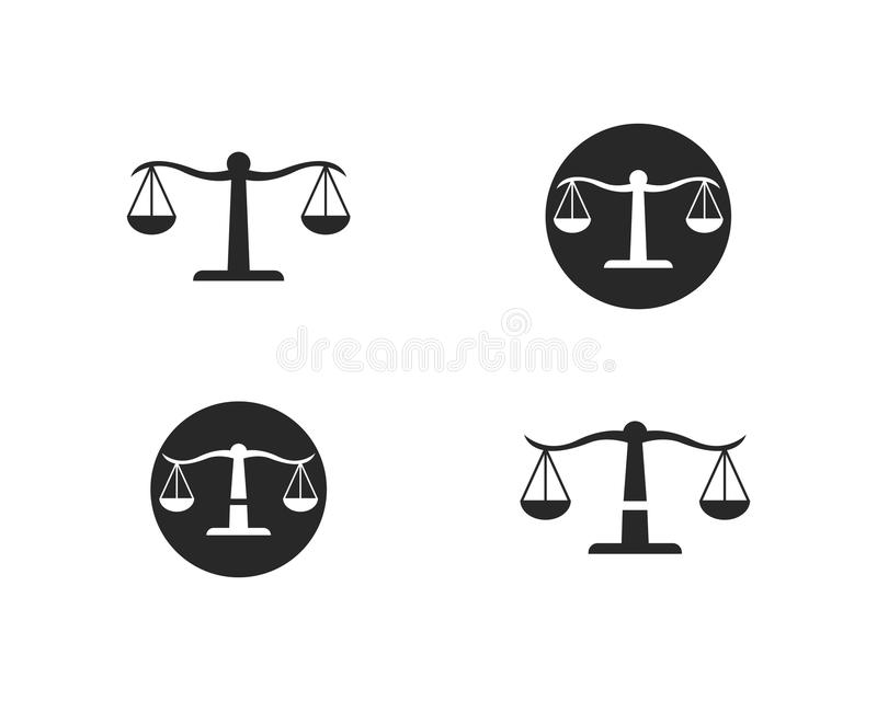 Law Firm logo vector. Template royalty free illustration