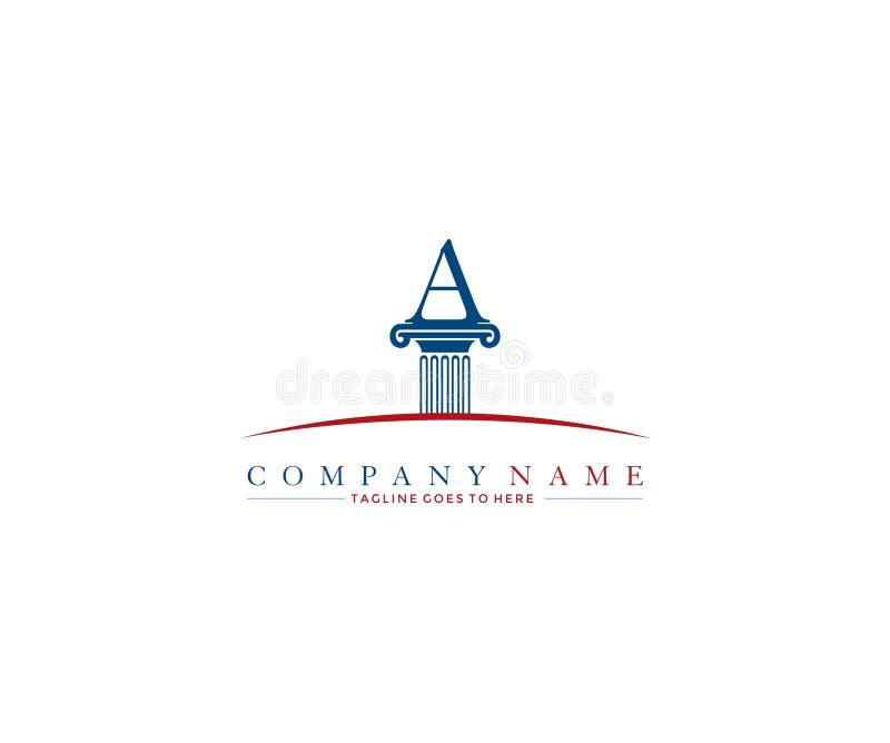 Law firm pillar A logo design template. Vector vector illustration