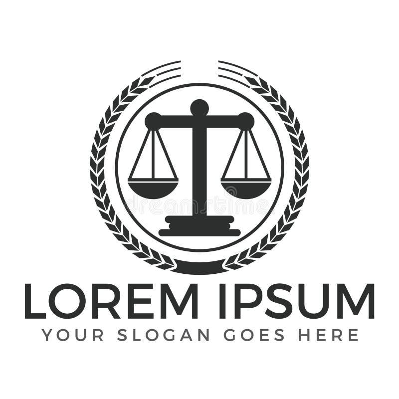 Law Firm or law service logo design. vector illustration