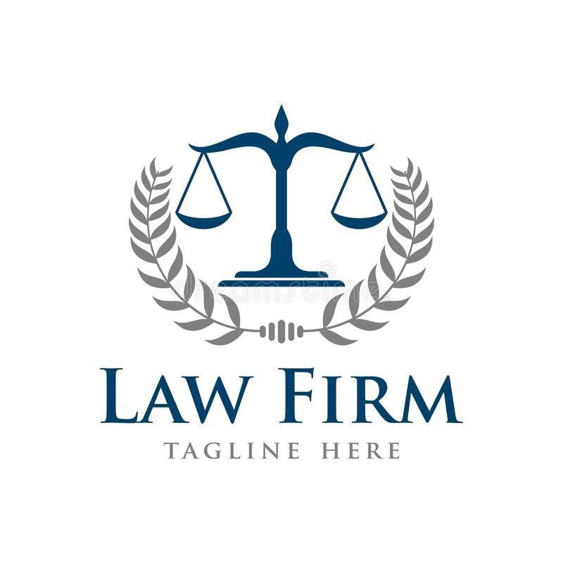 Law Firm Vector Template. With Background stock illustration