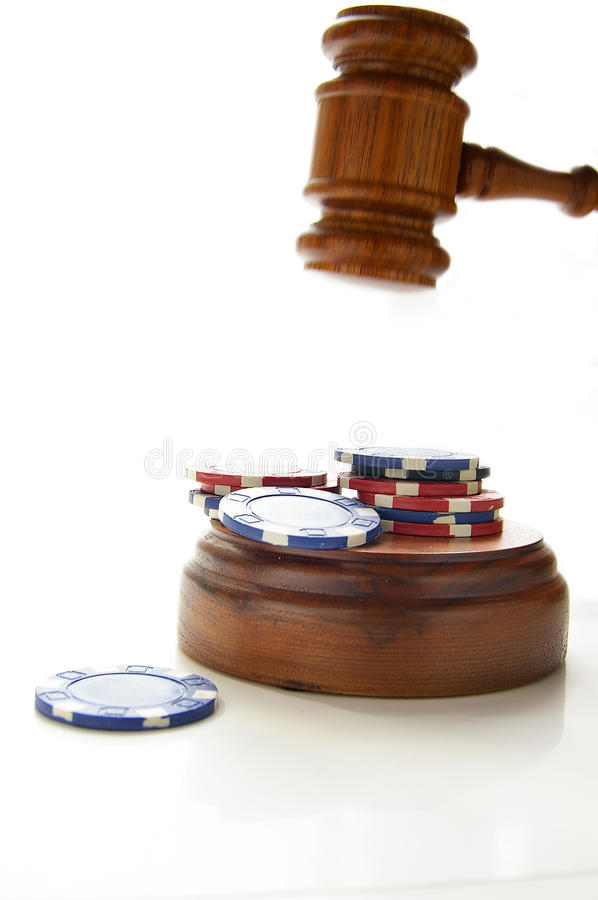 Law gamble royalty free stock photo