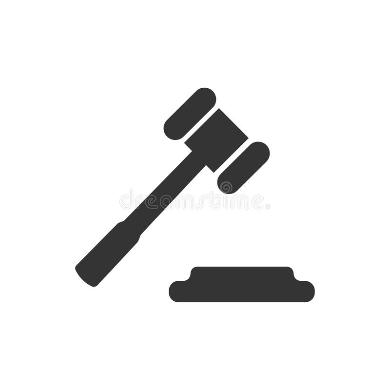 Law Icon. Beautiful, Meticulously Designed Law Icon stock illustration