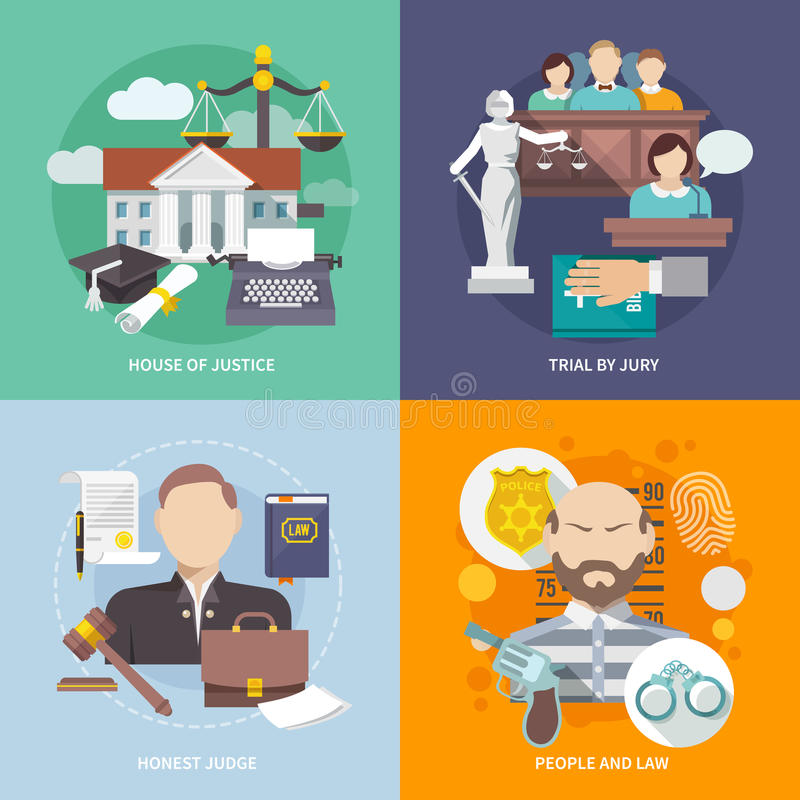 Download Law Icon Flat stock vector. Illustration of barrister - 48898158
