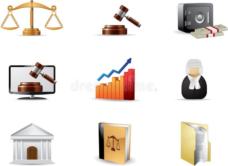 Law icon set royalty free stock photos