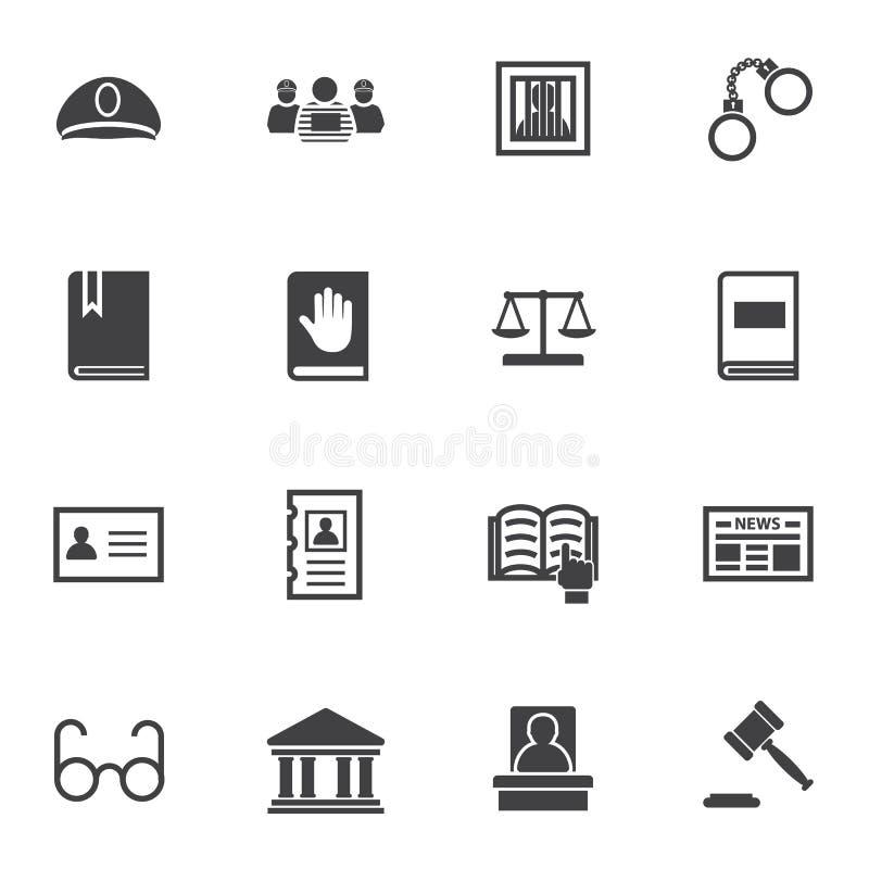 Law icon set vector illustration