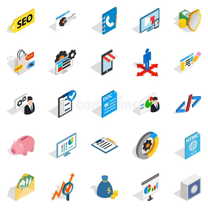 Law icons set, isometric style. Law icons set. Isometric set of 25 law vector icons for web isolated on white background vector illustration