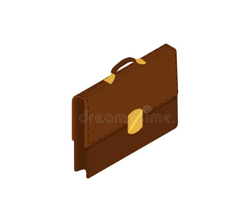 Briefcase isolated on white stock illustration