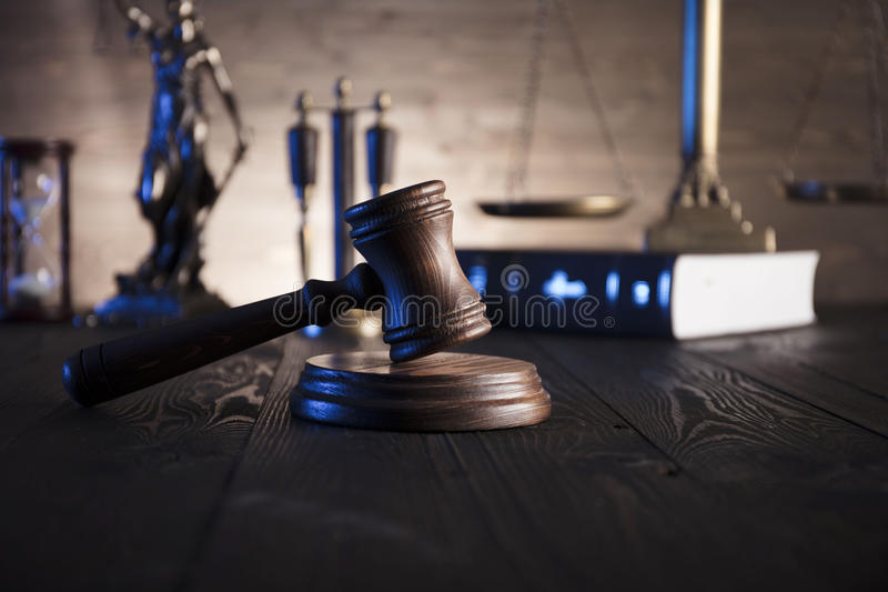 Law and justice theme. royalty free stock images