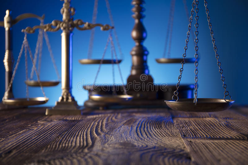 Law and justice theme. royalty free stock image