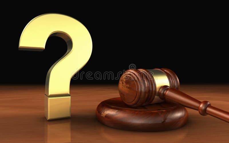 Law Legal Question Mark Symbol Concept stock illustration