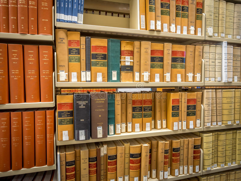 Law Library stacks royalty free stock image