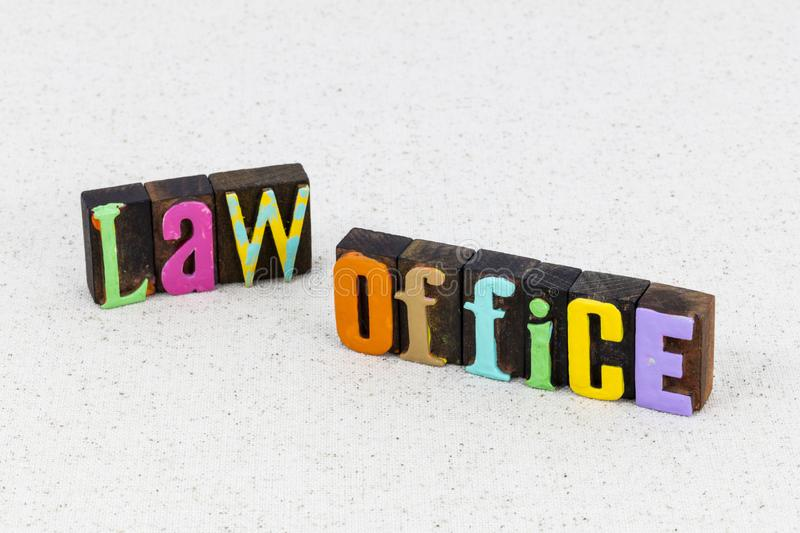 Law office legal justice business lawyer judicial authority. Law firm office legal rights advocate justice business employment lawyer judicial authority royalty free stock image