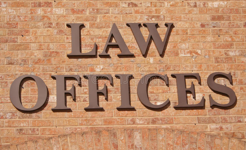 Law Offices Sign Stock Photo