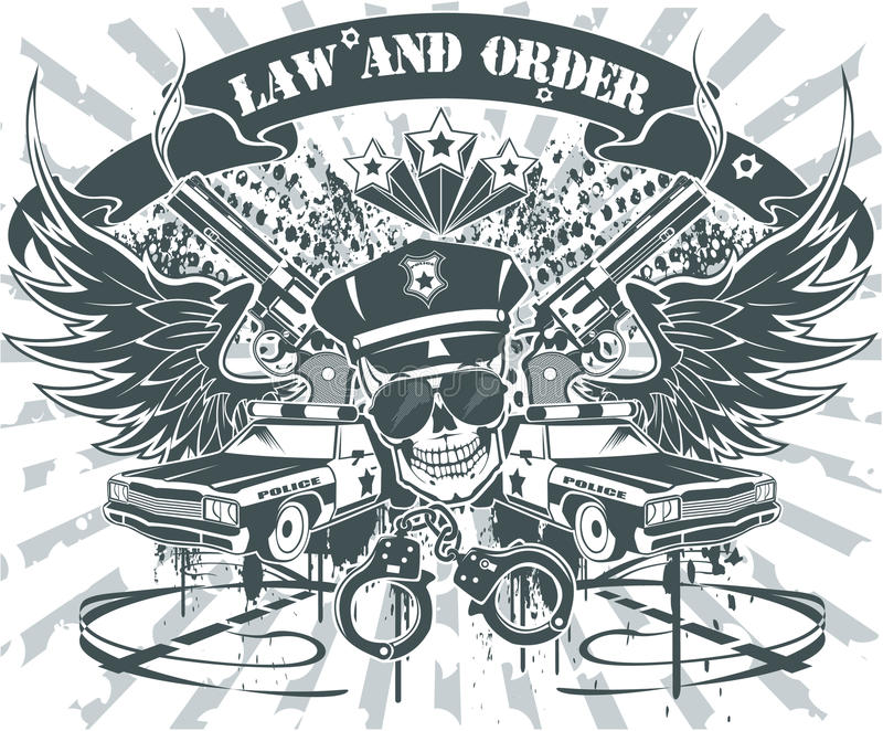 Download Law and Order Emblem stock illustration. Image of weapon - 19360581