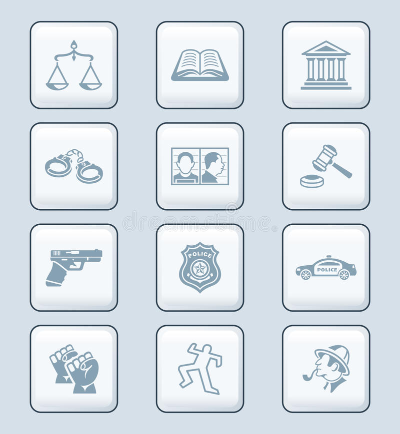 Law and order icons   TECH series vector illustration