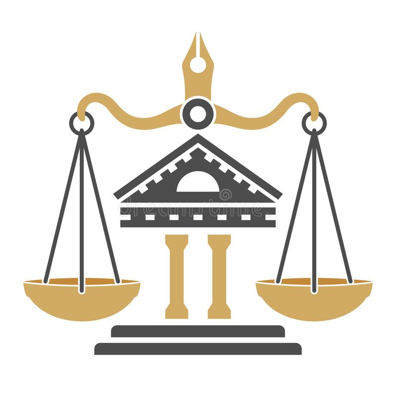 Law and Order Logo vector illustration