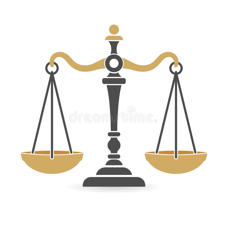 Law and Order Logo. Law and order concept. protection logotype with scales of justice. flat icons for poster, web site, advertising, logo. isolated vector vector illustration