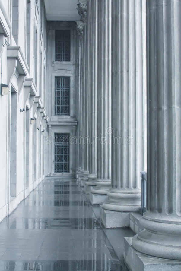 Law And Order Pillars In The Supreme Court Stock Images