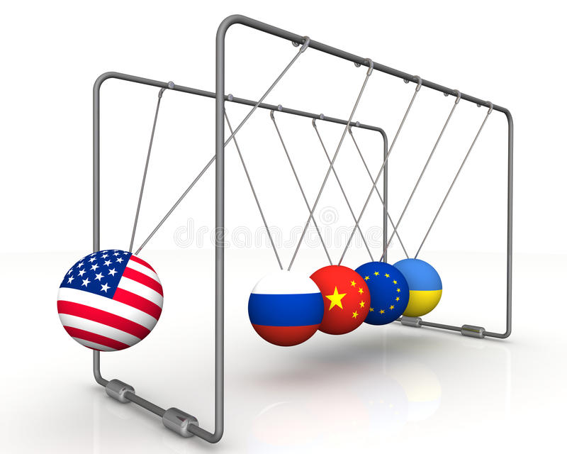 The law of retroactivity of sanctions in geopolitics. The concept stock illustration