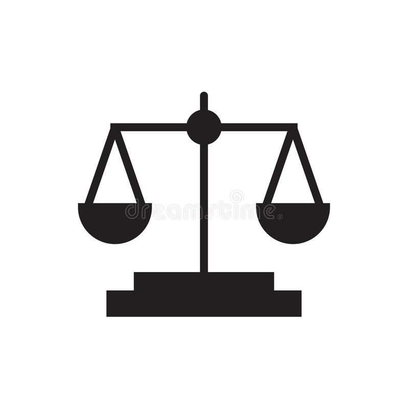 Law scale icon Vector illustration, EPS10. stock photos