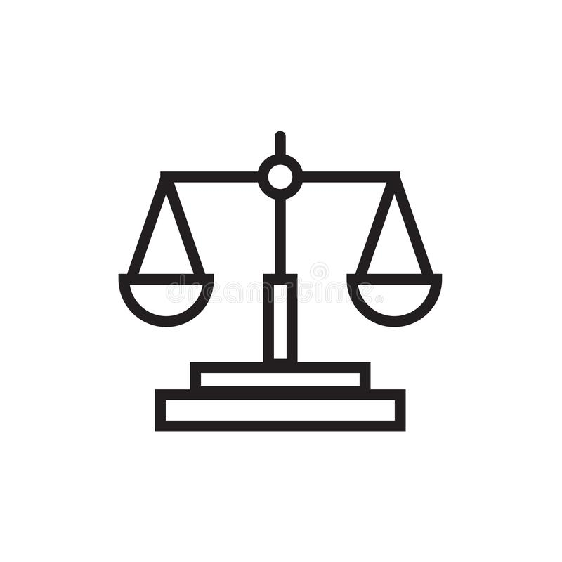 Law scale icon Vector illustration, EPS10. stock images