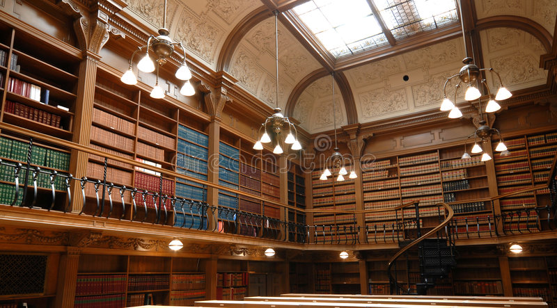 Download Law school library stock image. Image of receding, aisle - 5391731