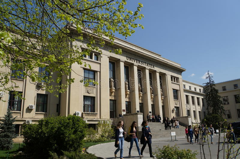 The Law School University. In Bucharest, Romania. The Law School was established on 17th October 1850 and the actual building was built in 1936 royalty free stock photo