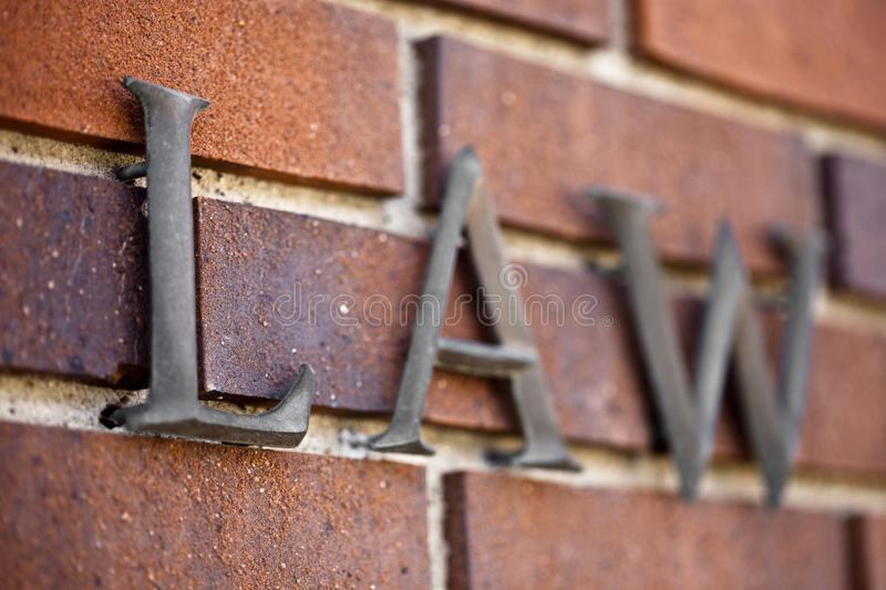 LAW Set in Stone royalty free stock image