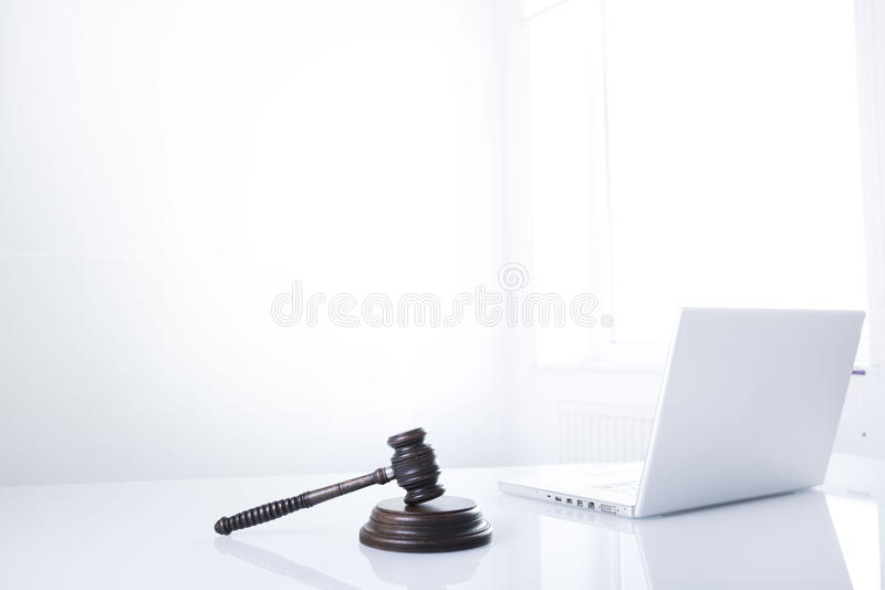Law theme and concept. Lawyer, counselor office. Consultation with a lawyer concept stock photography