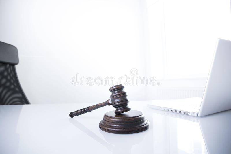 Law theme and concept. Lawyer, counselor office. Consultation with a lawyer concept stock image