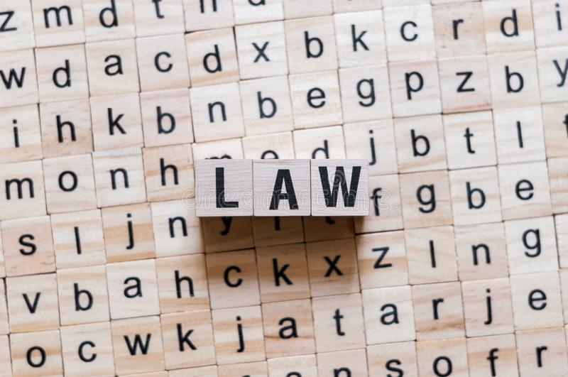 Law word concept royalty free stock photo