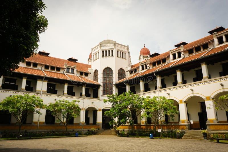 Lawang Sewu作为遗产大厦在三宝垄印度尼西亚 库存照片