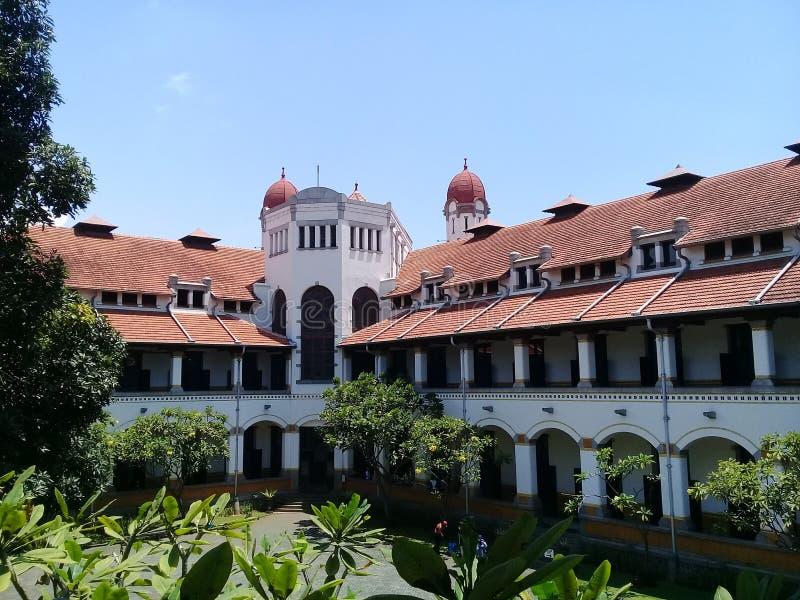 Lawang Sewu,印度尼西亚三宝龙 免版税库存照片