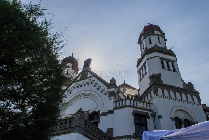 Lawang Sewu is oriëntatiepunt in de stad van Semarang royalty-vrije stock afbeeldingen