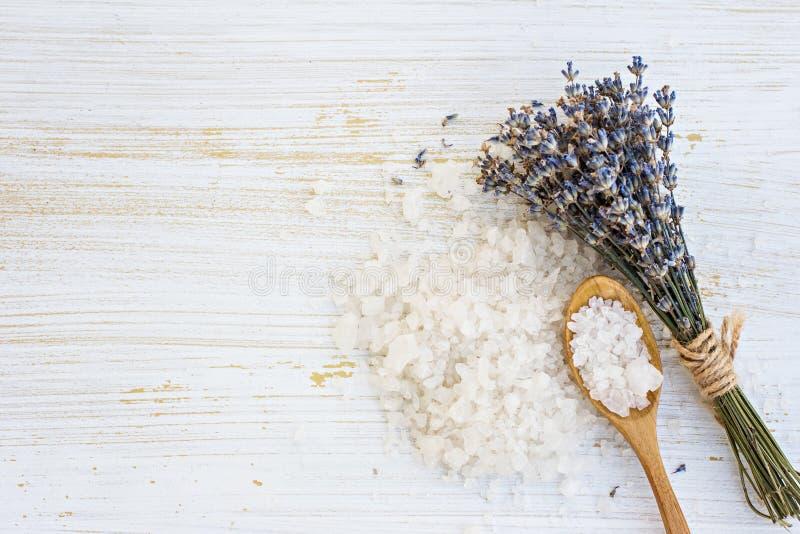 Lawendowa kąpielowa sól zdjęcie stock