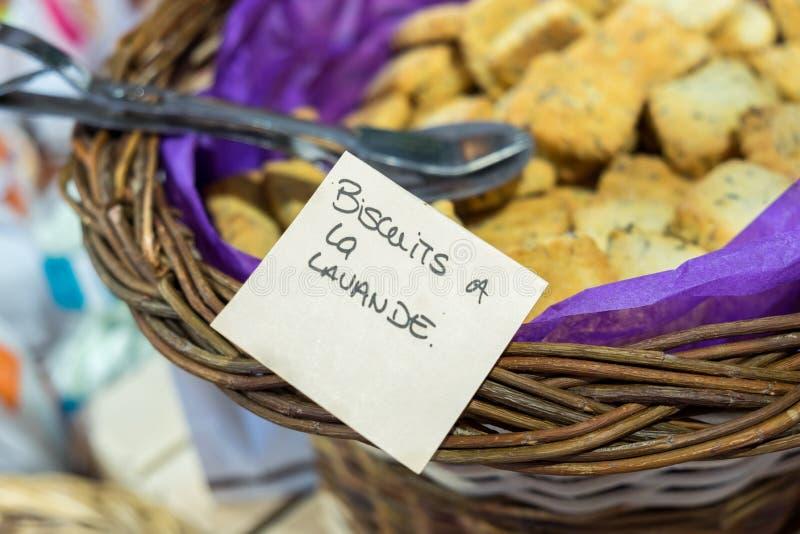 Lawendowi ciastka fotografia stock