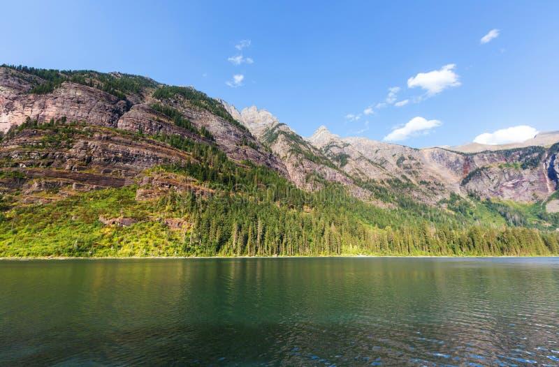 Lawinowy jezioro zdjęcie royalty free