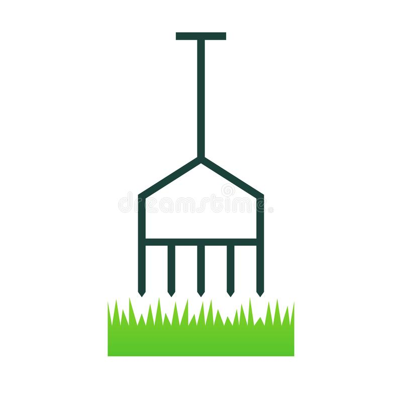 Lawn aerate icon. Lawn care clipart isolated on white background royalty free illustration