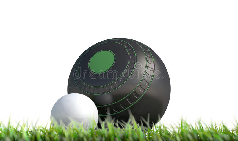 Lawn Bowl And Jack vector illustration