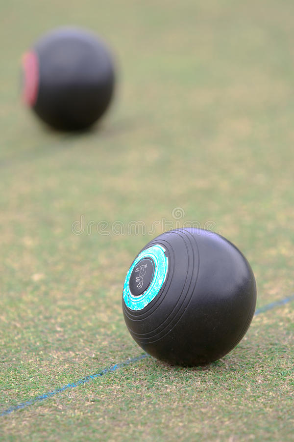Lawn Bowls on the Turf royalty free stock photo
